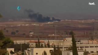 سقوط طائرة حربية مجهولة الهوية في ريف حلب
