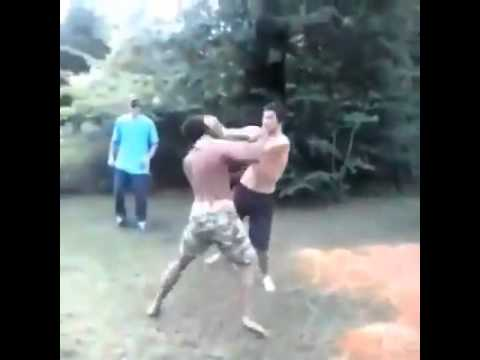 Asian guy vs black guy fight