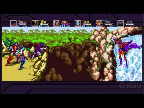 X-Men Arcade Xbox Live Playstation Network XBLA PSN Gameplay Preview