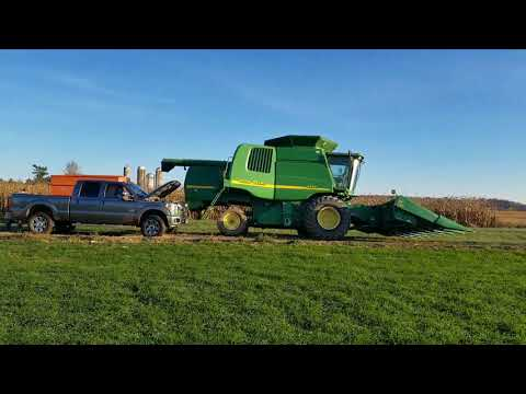 Cold start on the 9550 combine and 8320 John Deere tractor