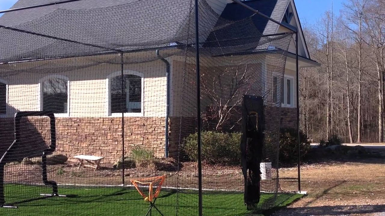 batting cage frame and netting baseball softball best size