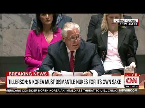 Rex Tillerson: U.N. members must do more to pressure North Korea, 'business as usual' is over