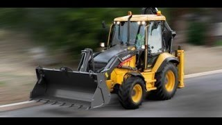 Powerful Volvo Backhoe destroying everything