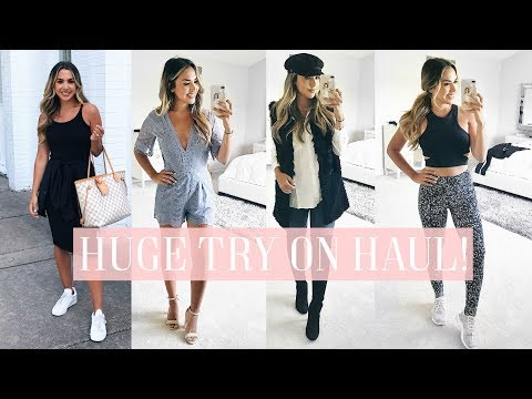 HUGE NORDSTROM SALE TRY ON HAUL! FALL CLOTHES, SHOES, FITNES