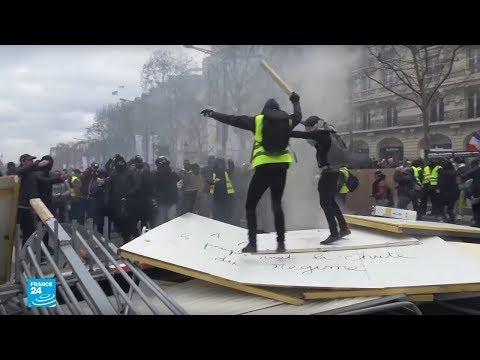 فرنسا: هكذا باتت جادة الشانزليزيه في باريس بعد احتجاجات -السترات الصفراء-!  - نشر قبل 2 ساعة