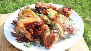Куриные крылышки в медово-соевом соусе. Готовим крылышки на мангале.