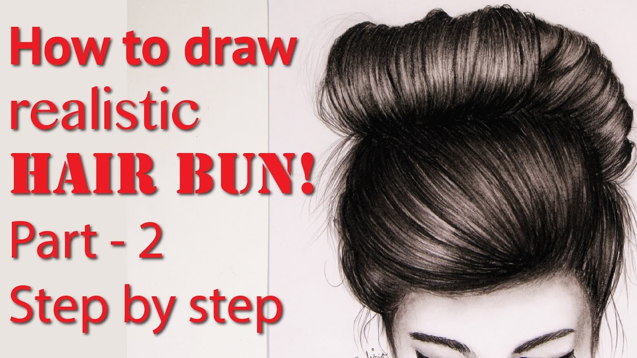 draw realistic hair bun