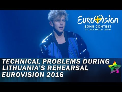 Technical problems at Lithuania's second rehearsal for Eurovision 2016