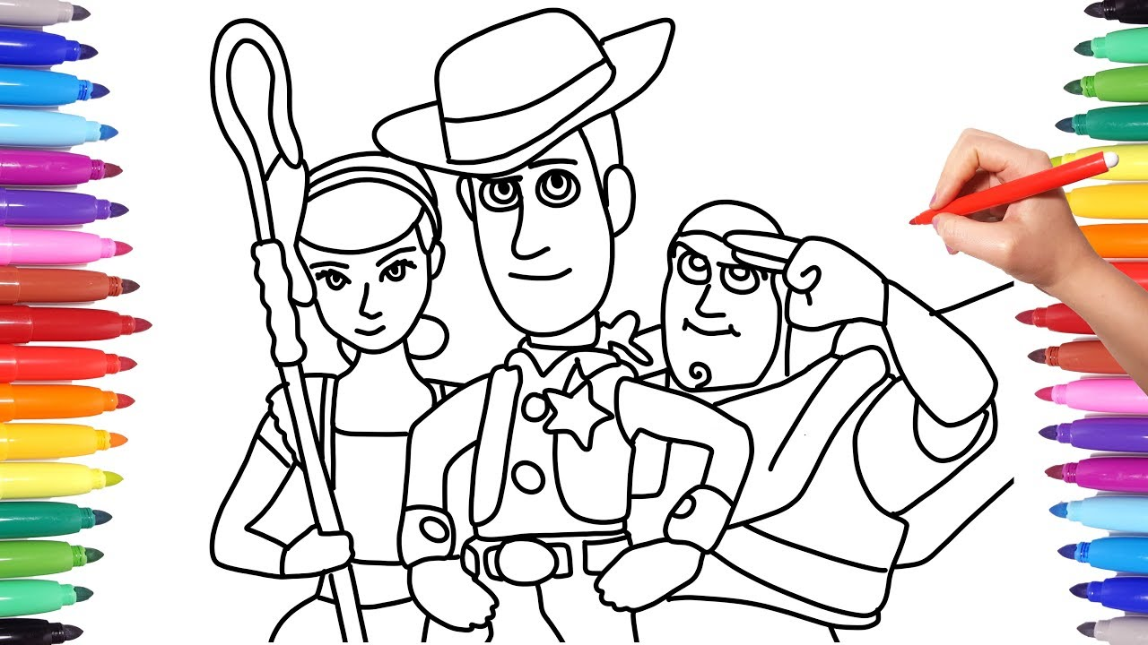 Toy Story 4 Drawing And Coloring For Kids