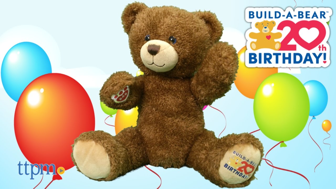 20th Anniversary Bear from BuildABear Workshop YouTube – Build a Bear Invitations Birthday