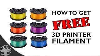 3D Printer Filament Giveaway (How to get FREE filament!)