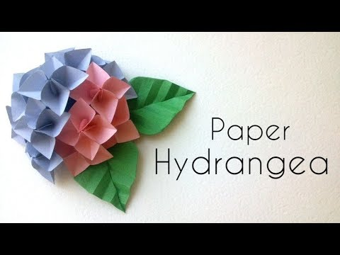 How to make paper flower hydrangea youtube how to make paper flower hydrangea mightylinksfo