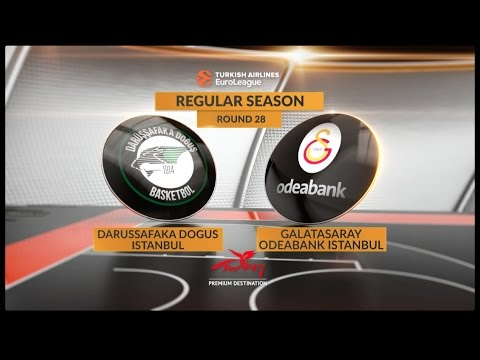 Highlights: Darussafaka Dogus Istanbul-Galatasaray Odeabank Istanbul