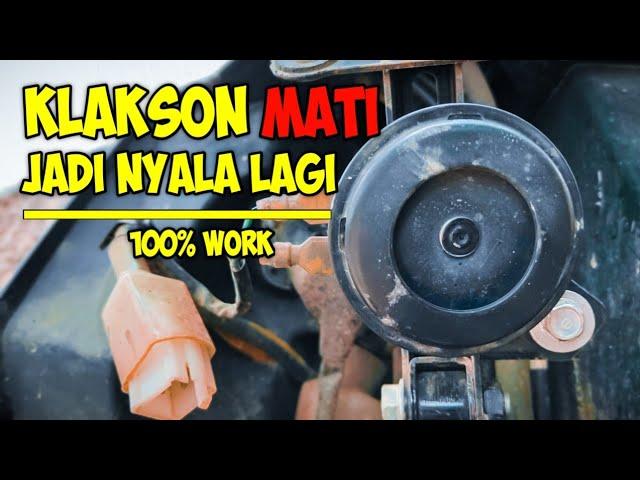 Cara Perbaiki Klakson Motor Mati Tutorial Kang One Youtube