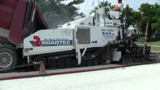 Video still for FXS - Fume eXtraction System at work on an RP-195e asphalt paver