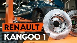 Montare Disc frana spate si față RENAULT KANGOO (KC0/1_): video gratuit