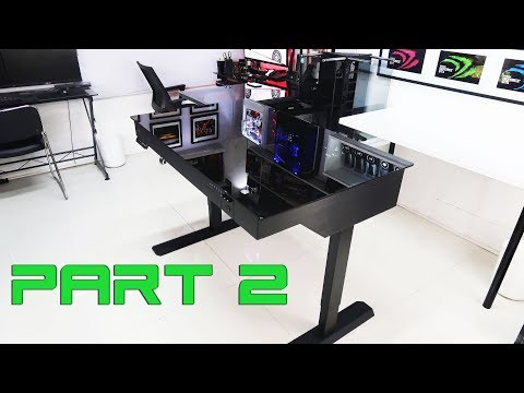 "Custom Pc Build #40 ""Genesis"" Part 2 Lian Li Desk Tutorials, Acrylic works, Tips and simple Mods"