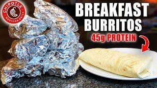 BREAKFAST BURRITO MEAL PREP  Freezer Burritos For The Whole Week!