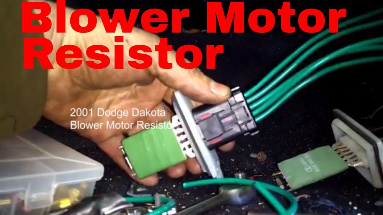 Dodge Dakota,Durango Blower Motor Resistor Wiring Diagram