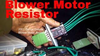 Dodge Dakota Durango Blower Motor Resistor Wiring Diagram