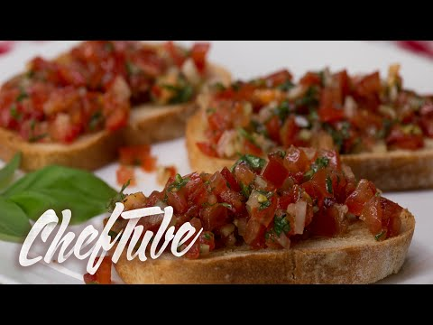 How to Make Italian Bruschetta - Recipe in description