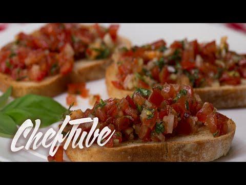 How to Make Italian Bruschetta – Recipe in description