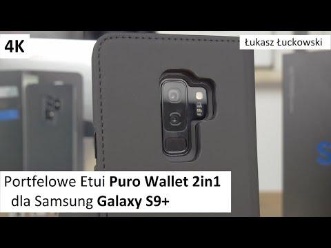 Portfelowe Etui Puro Wallet Detachable 2in1 dla Samsung Galaxy S9+ | Rzut Oka