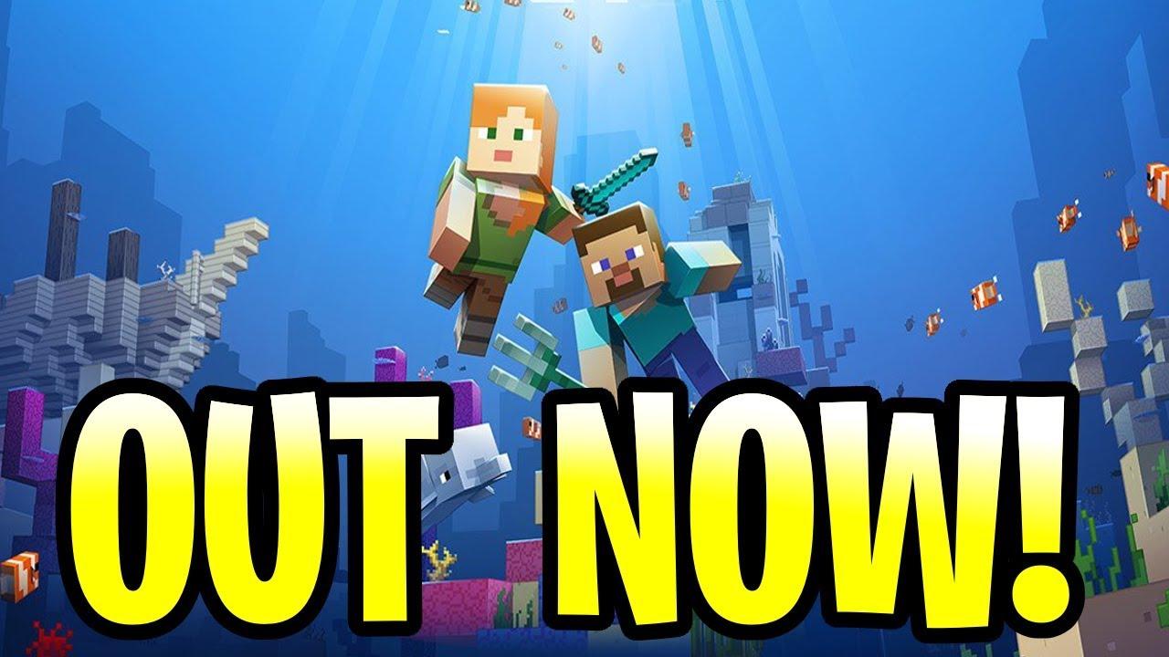 minecraft xbox 1 update aquatic