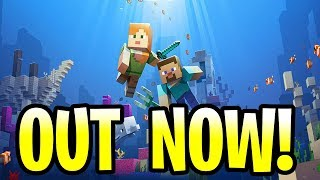 minecraft update aquatic out now all features pe xbox one windows 10 vr