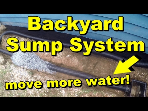 Backyard Sump Systems, Moves Water Fast