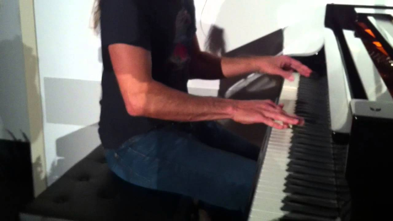 NAMM 2014 Robbie Gennet at Schimmel pianos for Keyboard Magazine