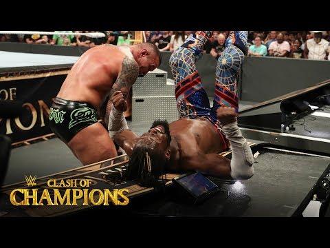 Randy Orton slams Kofi Kingston into the announce table: Clash of Champions 2019