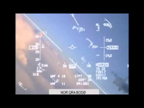 Watch As Russian MiG Nearly Collides With Norwegian F-16 Fighter Jet