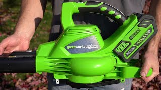 Greenworks Battery Powered Leaf Blower Review