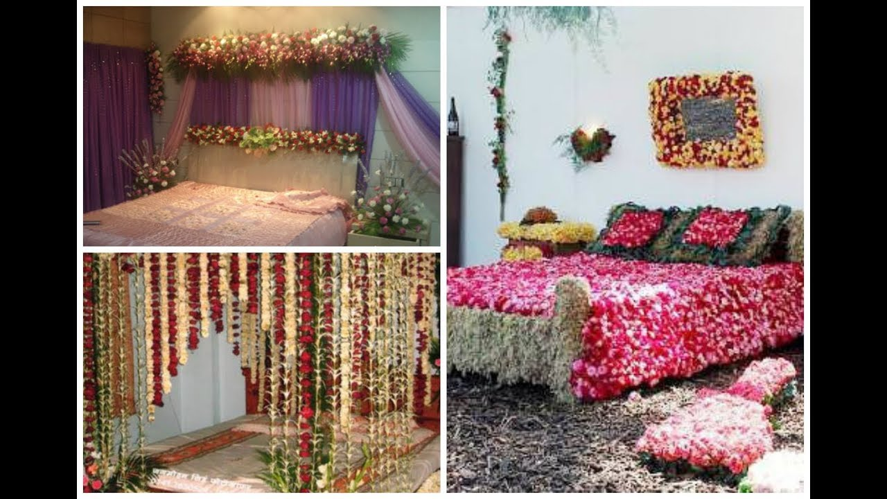 Bridal Bed Room Flower Decoration Ideas Asian Weddings