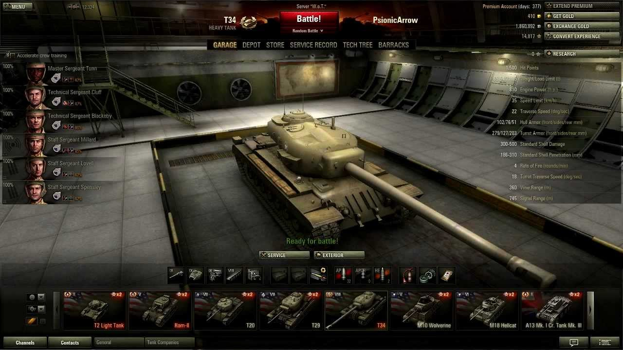World of tanks premium tank matchmaking