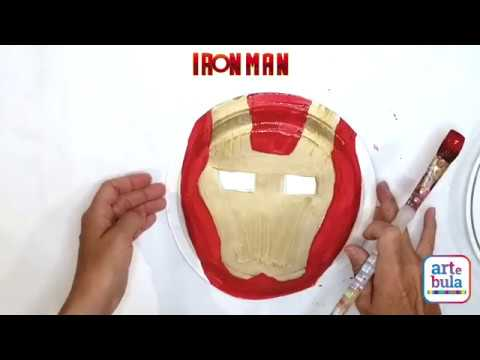 Make an Iron Man Paper Plate Mask