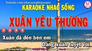 Karaoke   Xuân Yêu Thương Remix   Tone Nữ   Nhạc sống 2019   Karaoke Thúy An