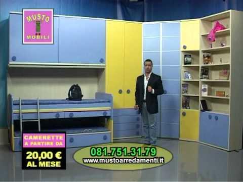 SPOT MUSTO MOBILI OFFERTA CAMERETTE - YouTube
