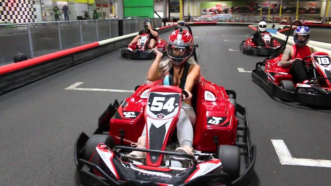 Laci Kay\'s World: Bikini Go Kart Racing - YouTube