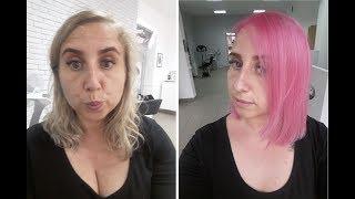 Zrobiłam różowe włosy | aga.groszek |