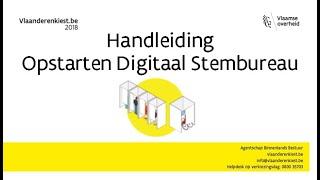 Handleiding opstarten digitaal stembureau (Generatie 1) #VlaanderenKiest