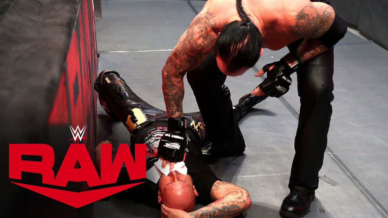 The Undertaker pummels The O.C. at WrestleMania signing: Raw, March 16, 2020