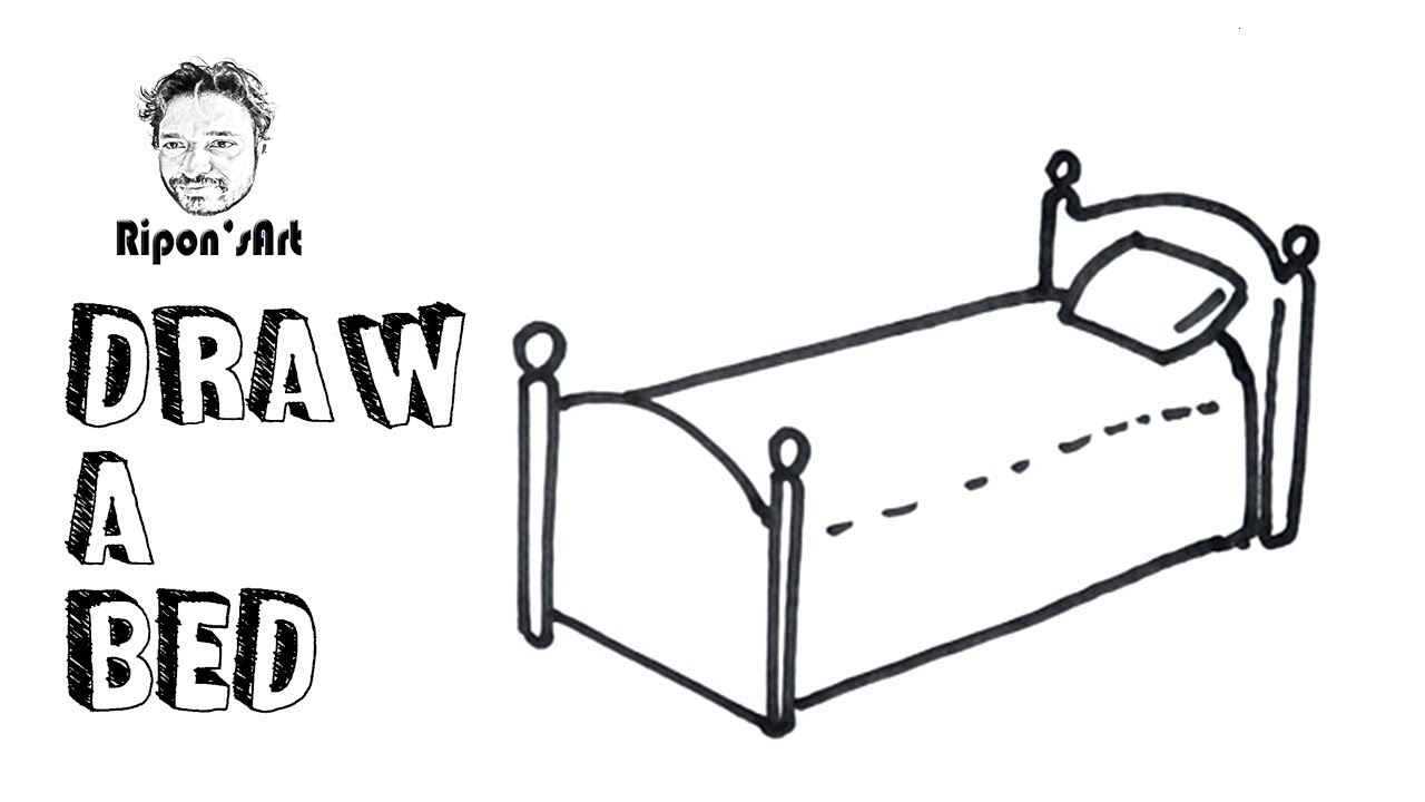 How To Draw A Bed Easy For Kidsripons Art Youtube
