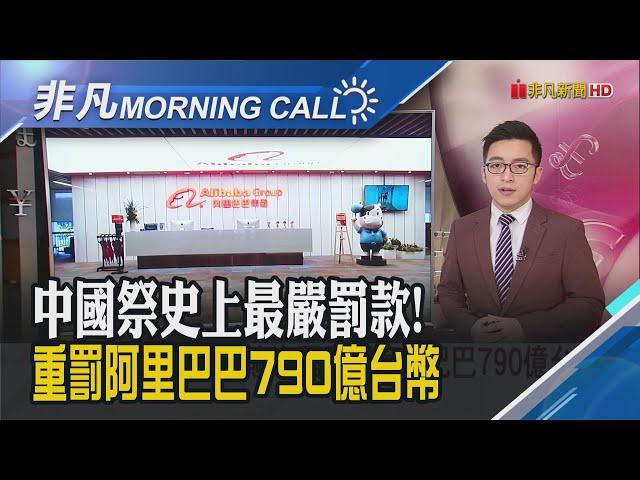中國祭史上最嚴罰款 阿里巴巴:接受服從 美財報季將登場 道瓊.標普再創新高|主播朱思翰|【非