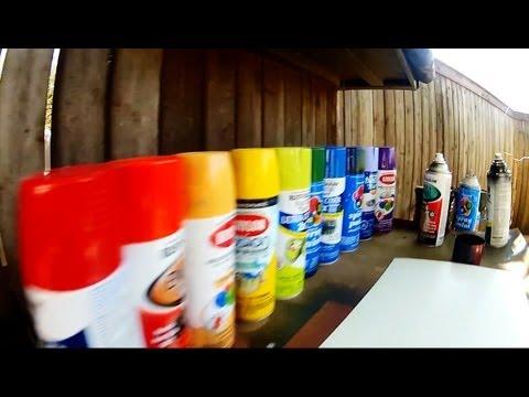 Spray Paint Art - Sunset Beach - POV