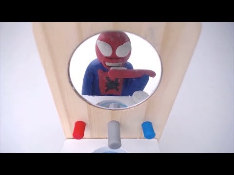 Baby Spiderman School Time Stop Motion Play Doh Animation Video for Children