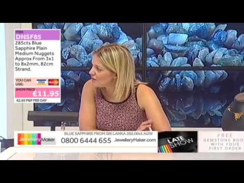 Mother of Pearl Flowers on the JewelleryMaker LATE SHOW 29-6-15
