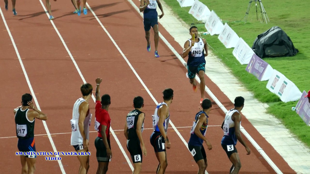India Beats Sri Lanka and wins MEN'S  4X400m RELAY FINAL. 22nd ASIAN ATHLETICS CHAMPIONSHIPS-20