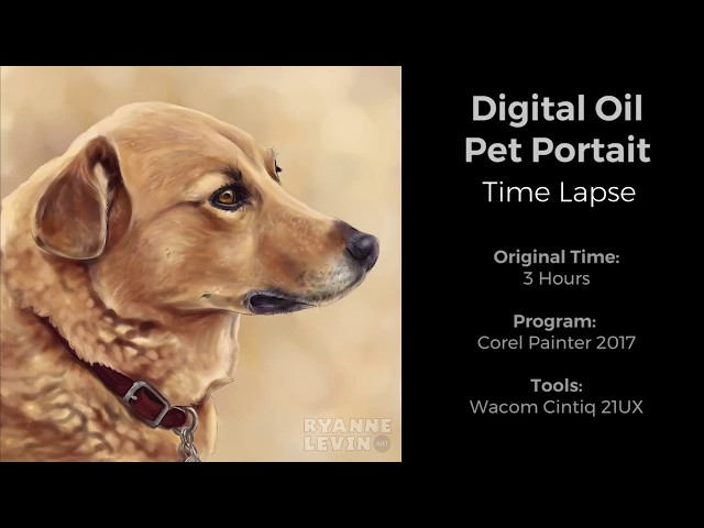 Digital Oil Paint- Dog Portrait